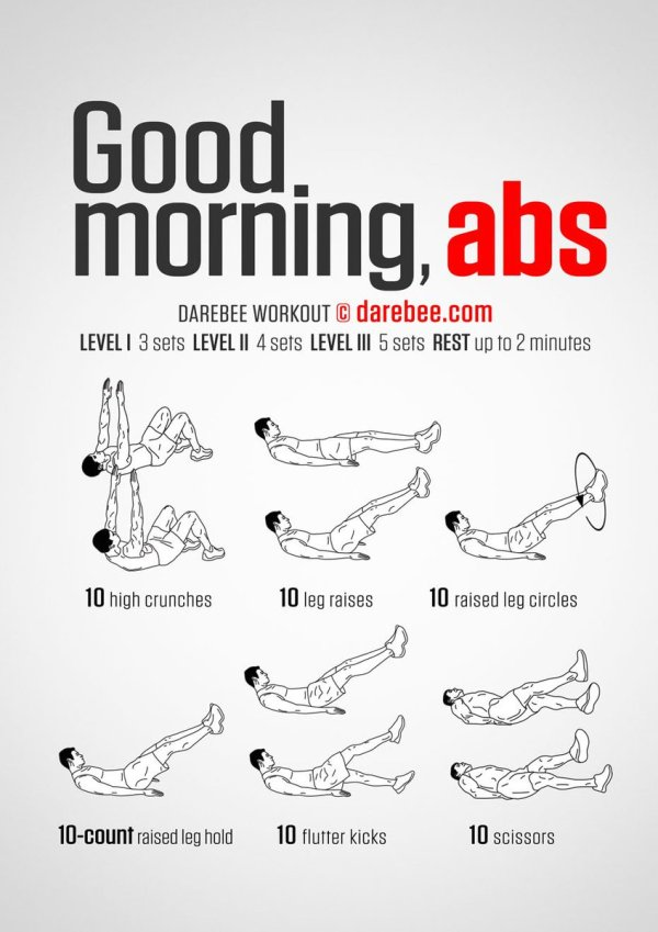 """DAREBEE on Twitter: """"Good Morning Abs Workout https://t.co ..."""