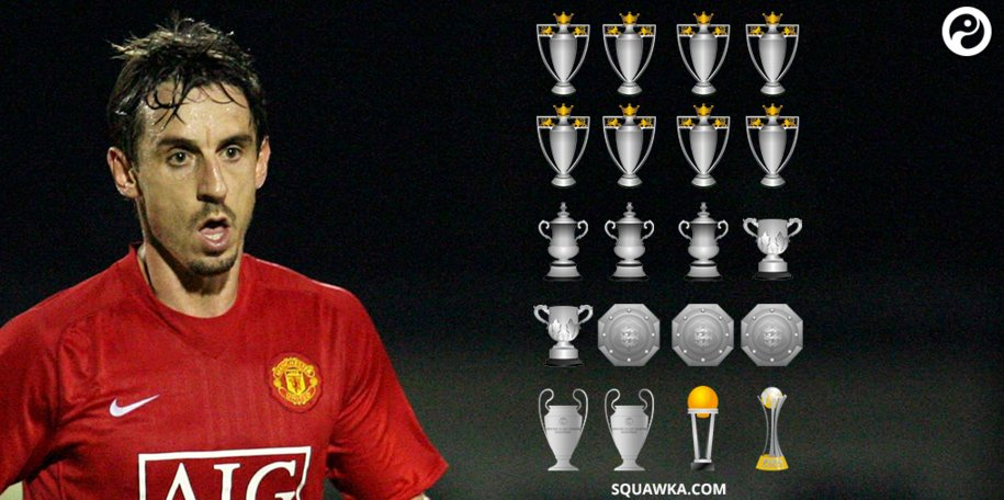 Happy birthday Gary Neville Winner trophies including Premier ...