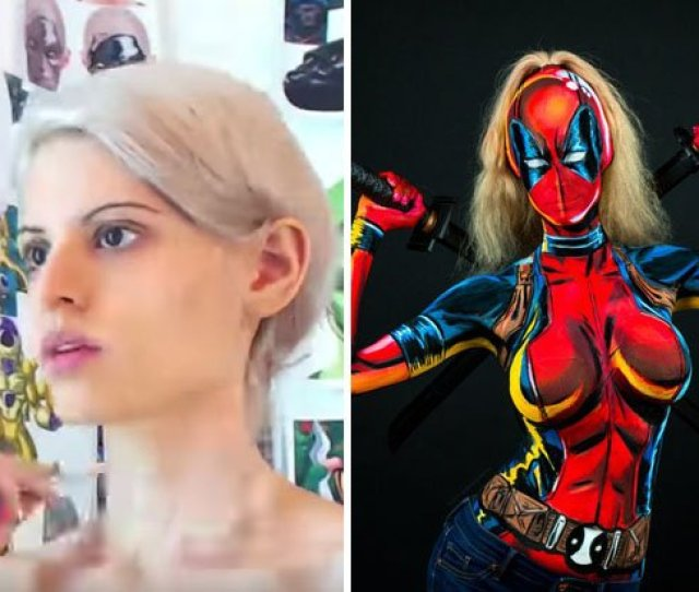 Watch Kaypikefashion Transform Herself Into A Sexy Superheroine Using Just Body Paint Https