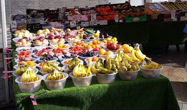 Canada Water Plaza Market Fruit and Vegetables