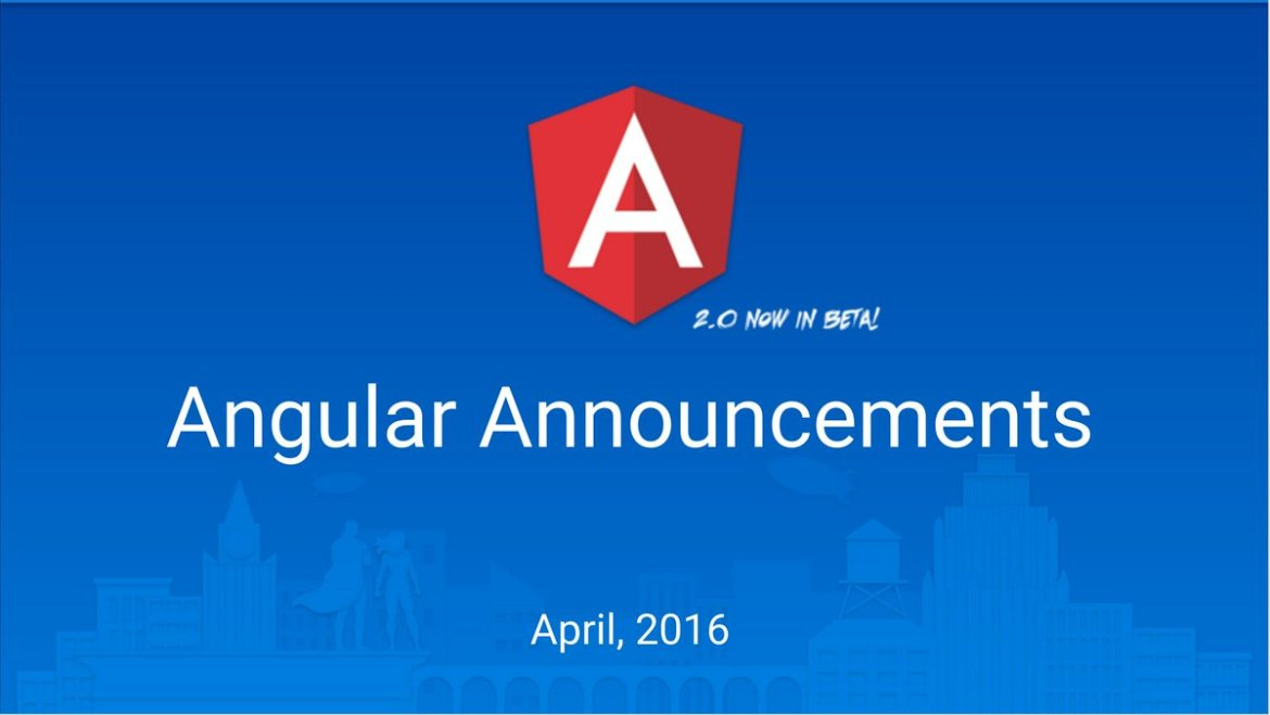 Angular announcements from our April meetup in Mountain View