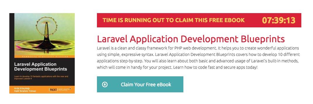 Get Laravel Application Development Blueprints book for FREE!    #laravel #php #angularjs #js