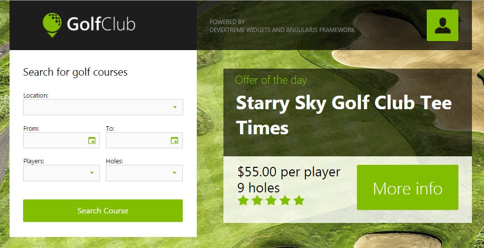 Do you like a golf? This demo is powered by @DevExtreme #widgets and #AngularJS #framework