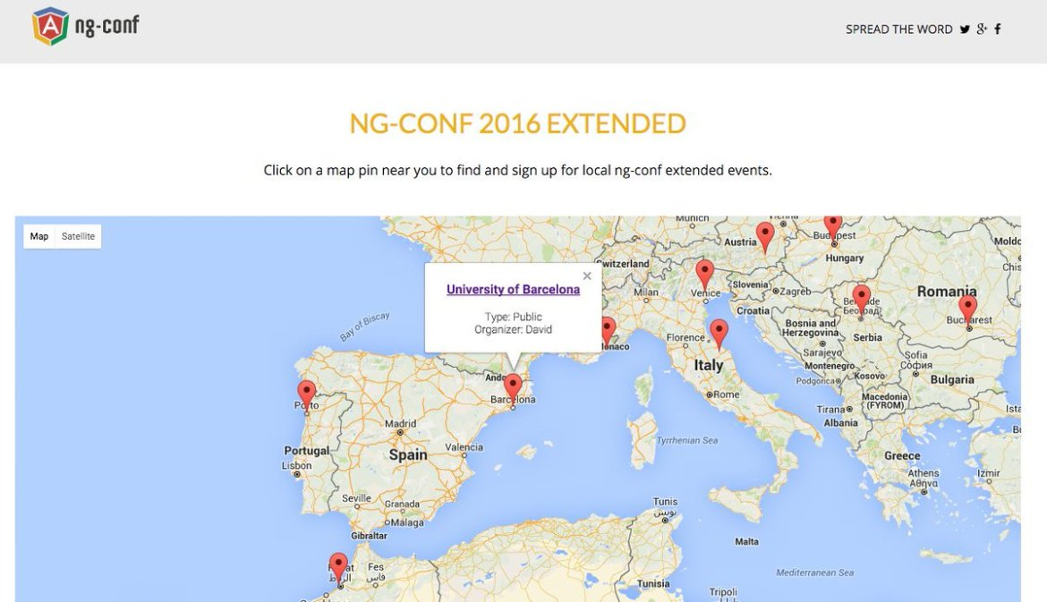 We love @AngularJS #Community & we are happy to organize @ngconf extended in #Barcelona ☀️