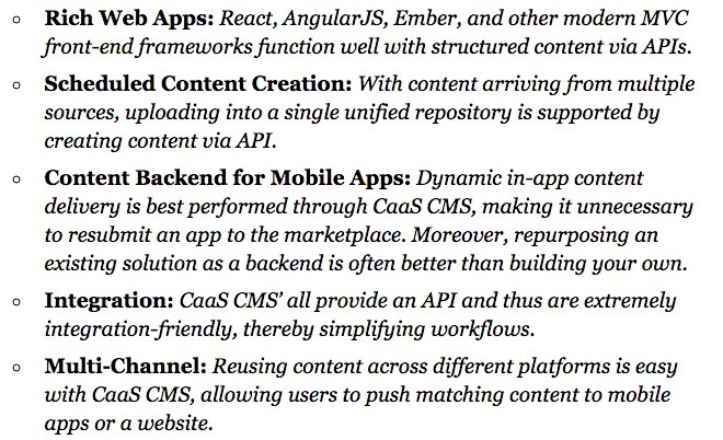 When to use Content as a Service (#CaaS), see  @angularjs @reactjs @emberjs @Ionicframework