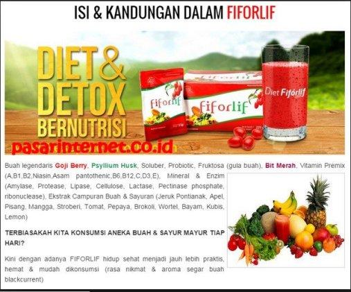 diet dan detox bernutrisi dengan Fiforlife