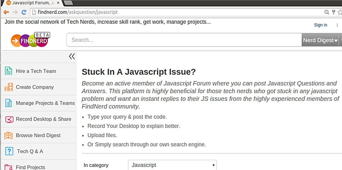 Use our #Javascript Forum to get help on all Popular JS frameworks.  #angularjs #MeteorJS