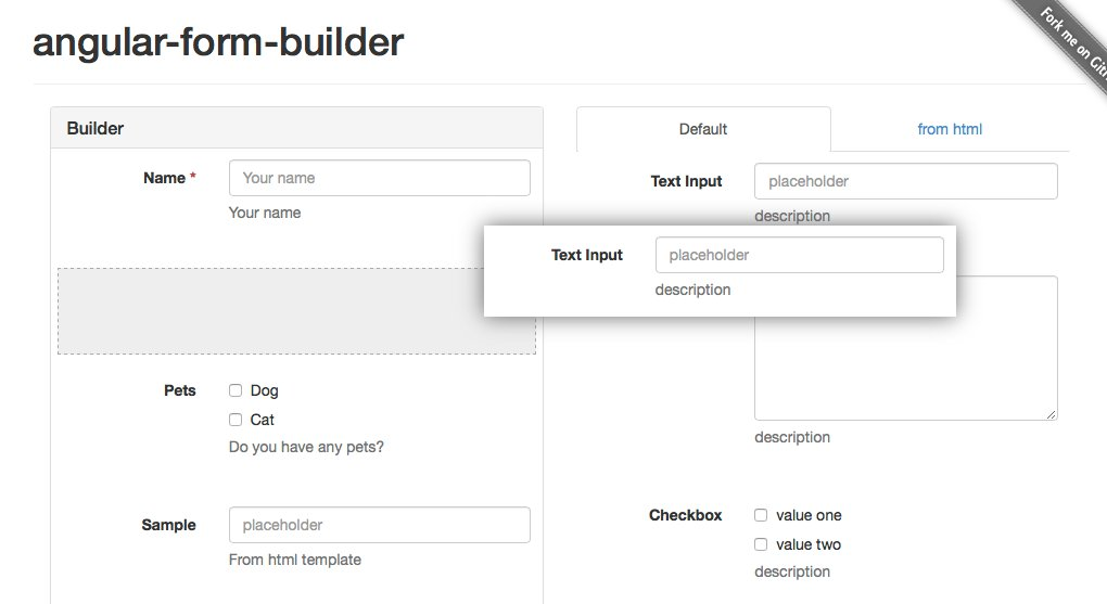 Cool Angular Drag & Drop Form Builder >  #angularjs #dev #webdev #css3 #html5