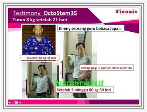 Testimoni Octostem35 berat badan turun 8kg setelah 21 hari