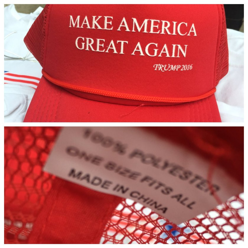 Image result for trump hats made in china