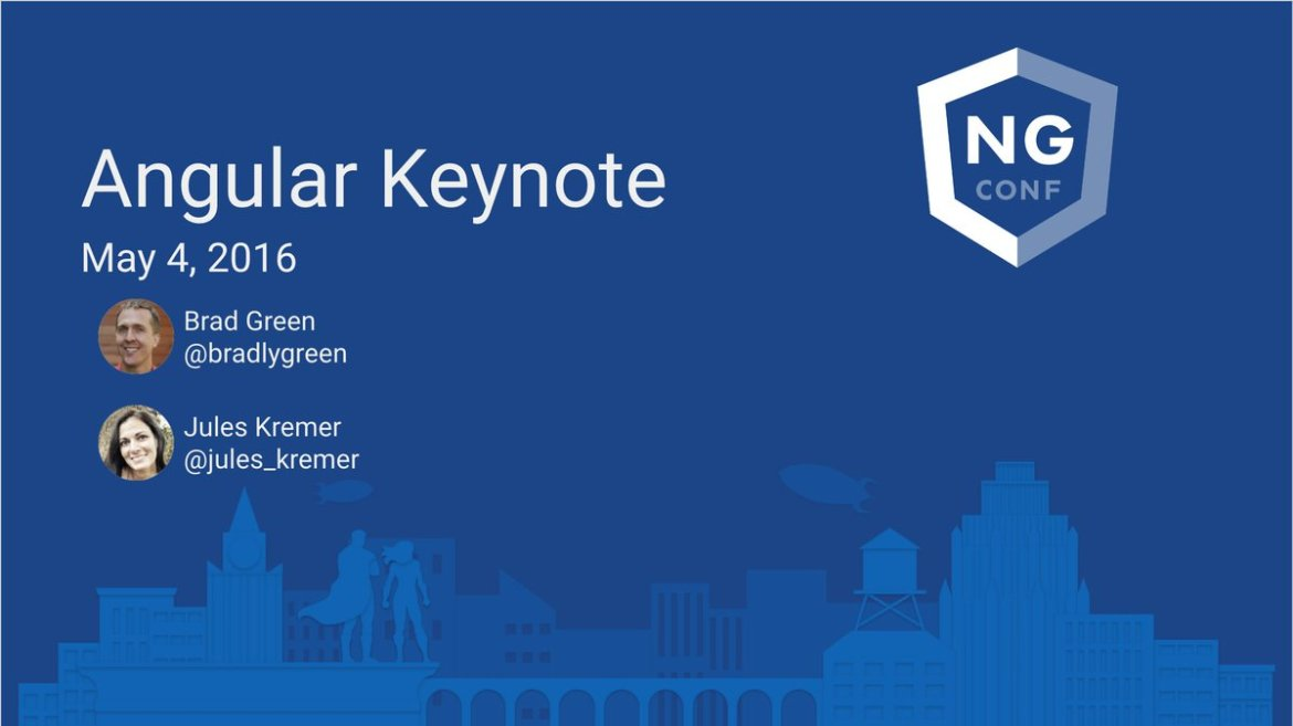 Here's our Day 1 Keynote slides from #ngconf 2016