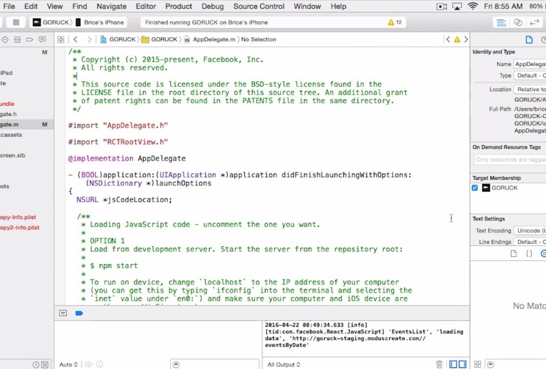 SCREENCAST | Running React Native Apps on iOS Devices with @bricemason  #javascript @reactjs