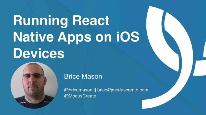 Learn to run #ReactJS Native apps on iOS devices: