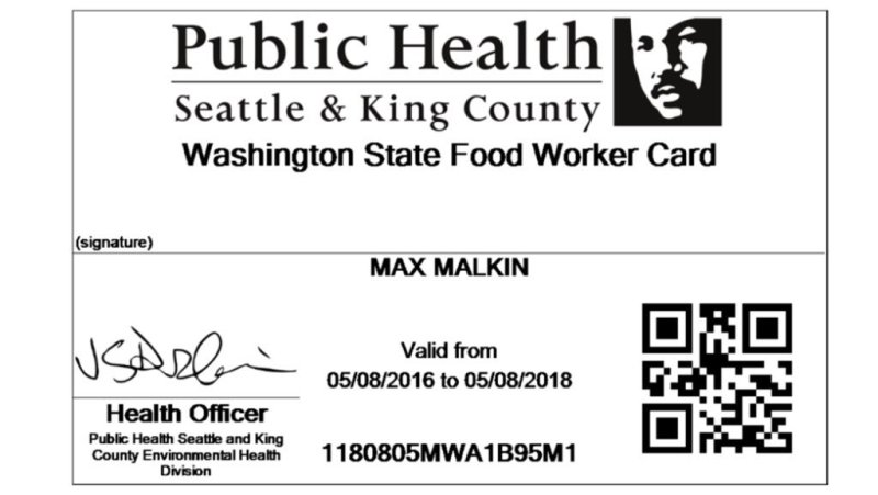 Washington How To Get A Food Handlers Card