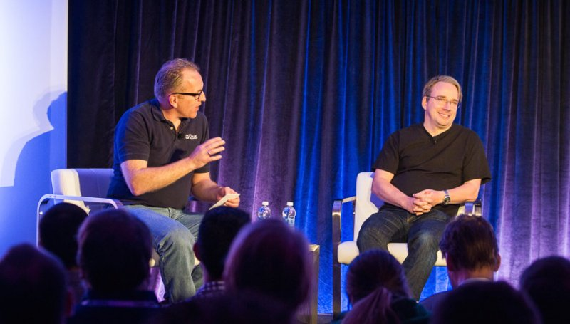 Video: Linus Torvalds talks about IoT with @DHohndel at the recent #OpenIoTSummit: