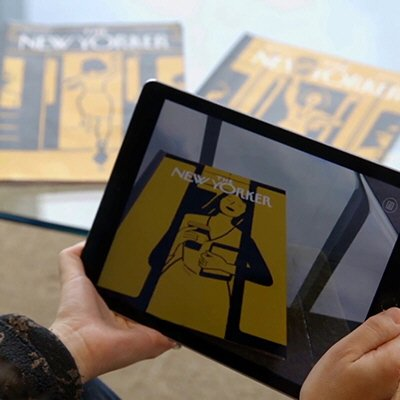 New Yorker Releases Physical Magazine Cover Animated by #AugmentedReality