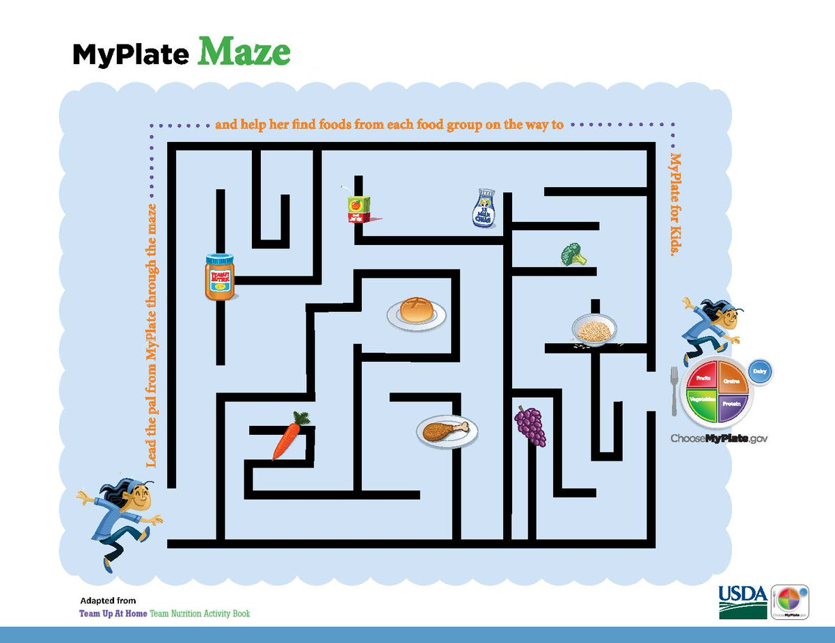 Introduce Kids To Myplate With Coloring A Word Search Or Crossword Puzzle