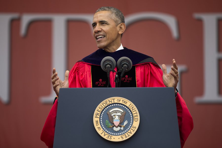 President Obama took a veiled shot at #Trump during a commencement speech: