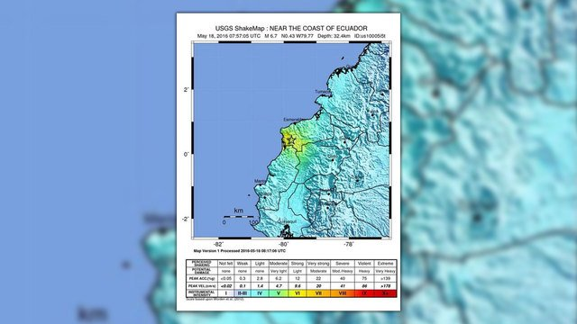 6.7 magnitude earthquake strikes Ecuador