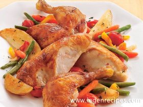 Oven-Roasted Chicken and Vegetables -