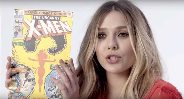 Image result for elizabeth olsen comic books