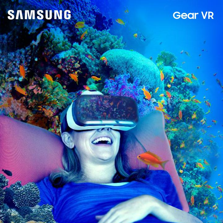 Would you try living in an underwater world? Everything is possible with our #GearVR!