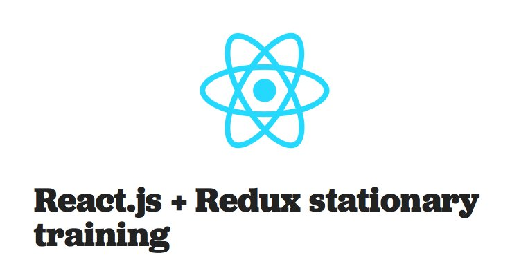 We now offer React.js + Redux stationary trainings!