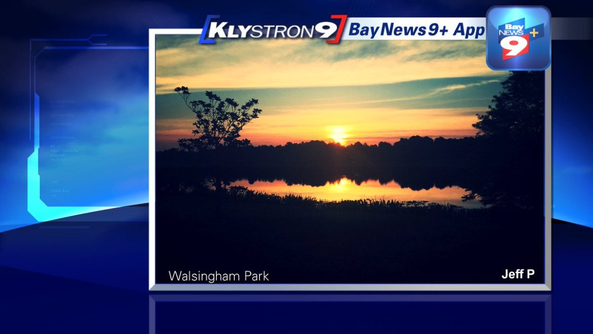 Juli Marquez: Gorgeous sunrise picture from Jeff in #Pinellas Co.! Rain chances this week: