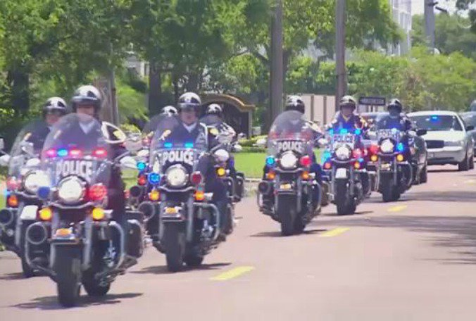 #Tampa police officer killed in off-duty motorcycle accident laid to rest  @laurenverno