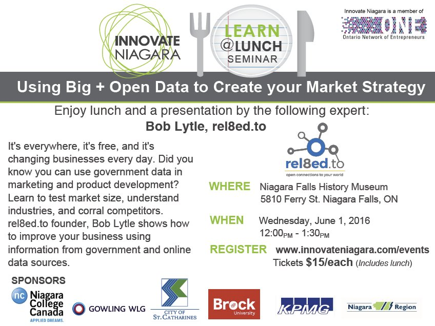 Find out how #BigData #OpenData can inform your marketing strategy! June 1st #LearnAtLunch: