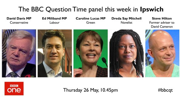 """BBC Question Time on Twitter: """"This week's #bbcqt lineup ..."""
