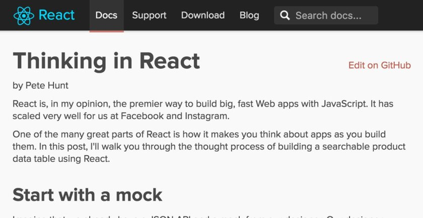 Thinking in @reactjs with a bunch of @jsfiddle examples –