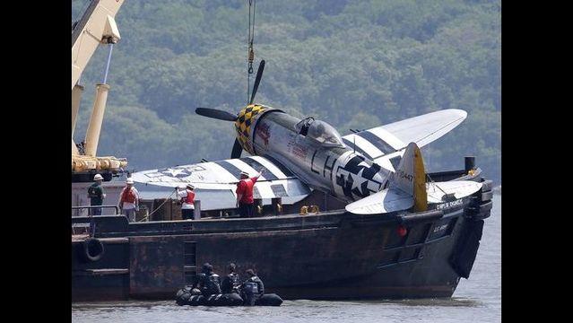 Vintage plane fished out of Hudson...