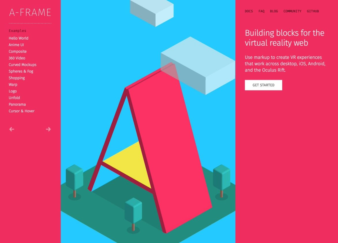 Open-source framework for easily creating WebVR experiences with HTML -  #virtualreality #VR