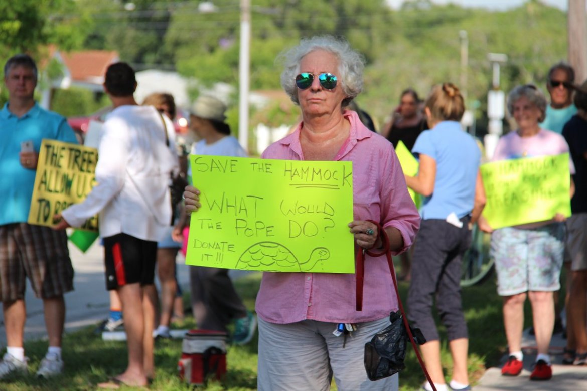 Nearly 100 #Dunedin residents protest @OLLDunedin's plan to sell to developers  via @TB_Times