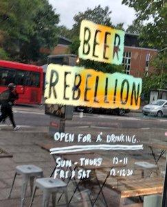 Beer Rebellion Peckham Door
