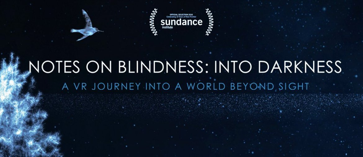From 11am today #NotesOnBlindness #VR playing @SheffDocFest #AlternateRealities Arcade