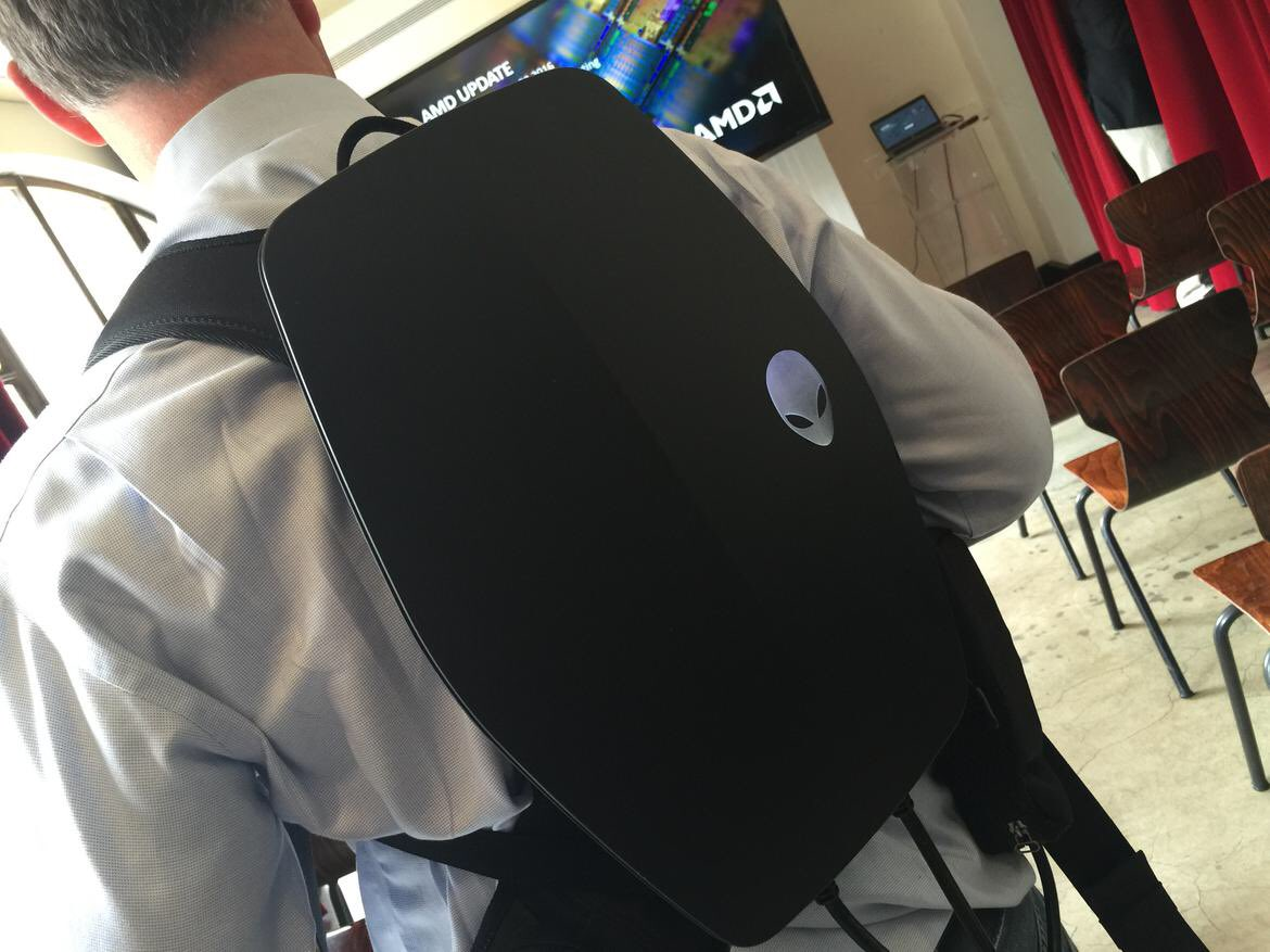 Smallest #VR backpack yet! Being untethered never looked so good, @Alienware