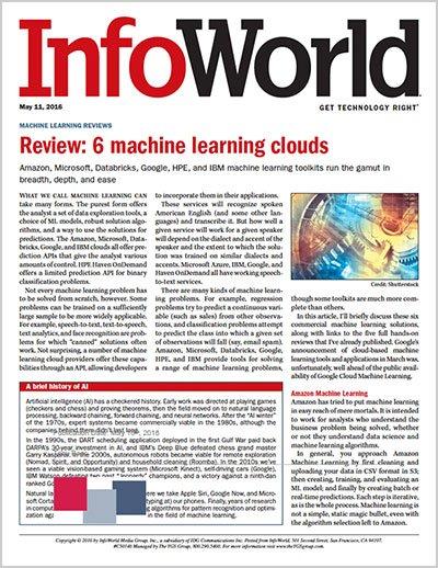 The #ApacheSpark #MachineLearning platform from @Databricks won an @infoworld award: