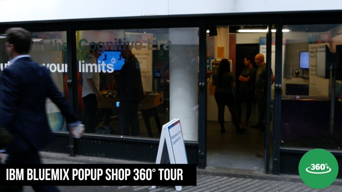 Watch our 360° Video tour of the IBM #BluemixPopUpShop now at Old Street #IoT #Cloud #Devops