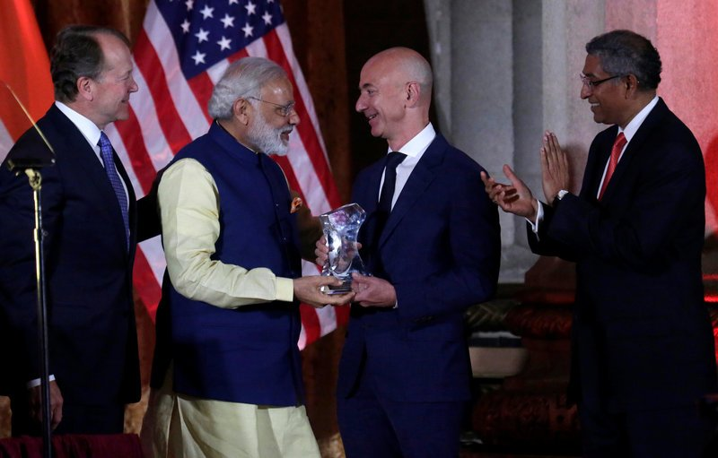 Bezos says Amazon to invest additional $3 billion in India  by @Reuters