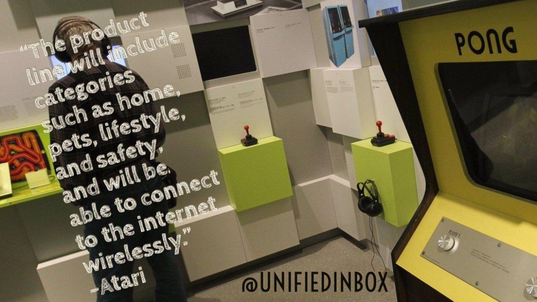 #Pong ✔️ #PacMan ✔️ #IoT ⁉️  @atari is now a #smartdevice manufacturer -  /@wheresKR!