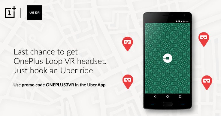 #OnePlus, #Uber to give away free #VR #headsets:get one.#read #tech #win #vitorr #gadget