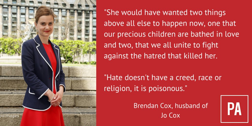 Brendan Cox on his murdered wife