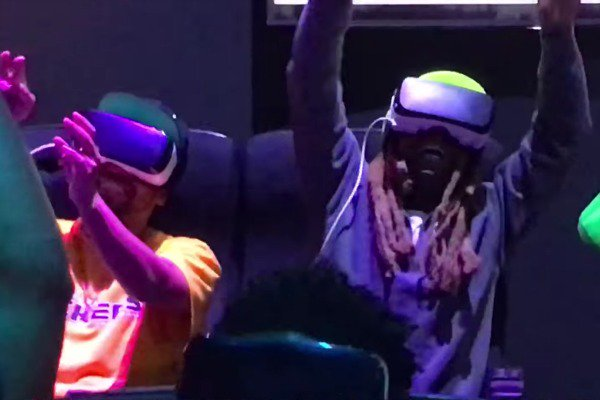 Watch @LilTunechi freak out on a virtual reality rollercoaster.