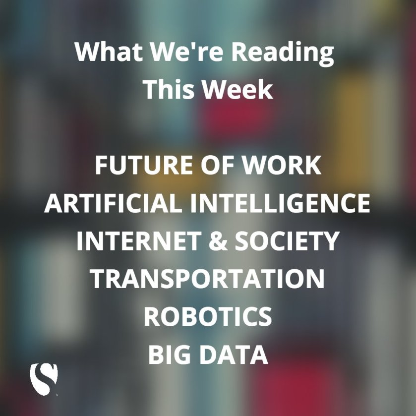 What We're Reading This Week: #ArtificialIntelligence #BigData #Robotics More: