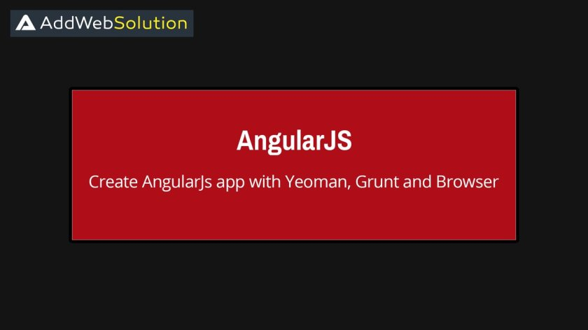Blog Post: Create #angularjs app with #Yeoman, #Grunt and #Bower  #letstalksolution