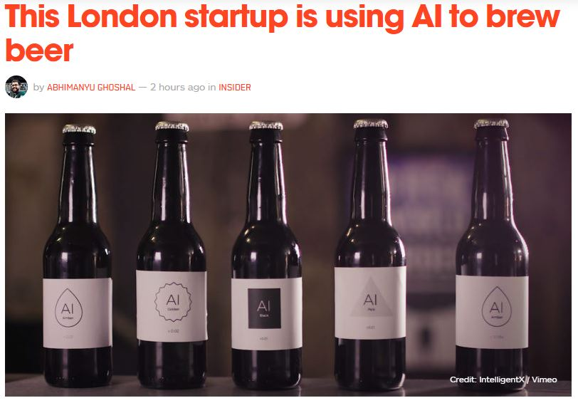 Proof #London still has the edge! - This startup is using #AI to brew beer  via @thenextweb