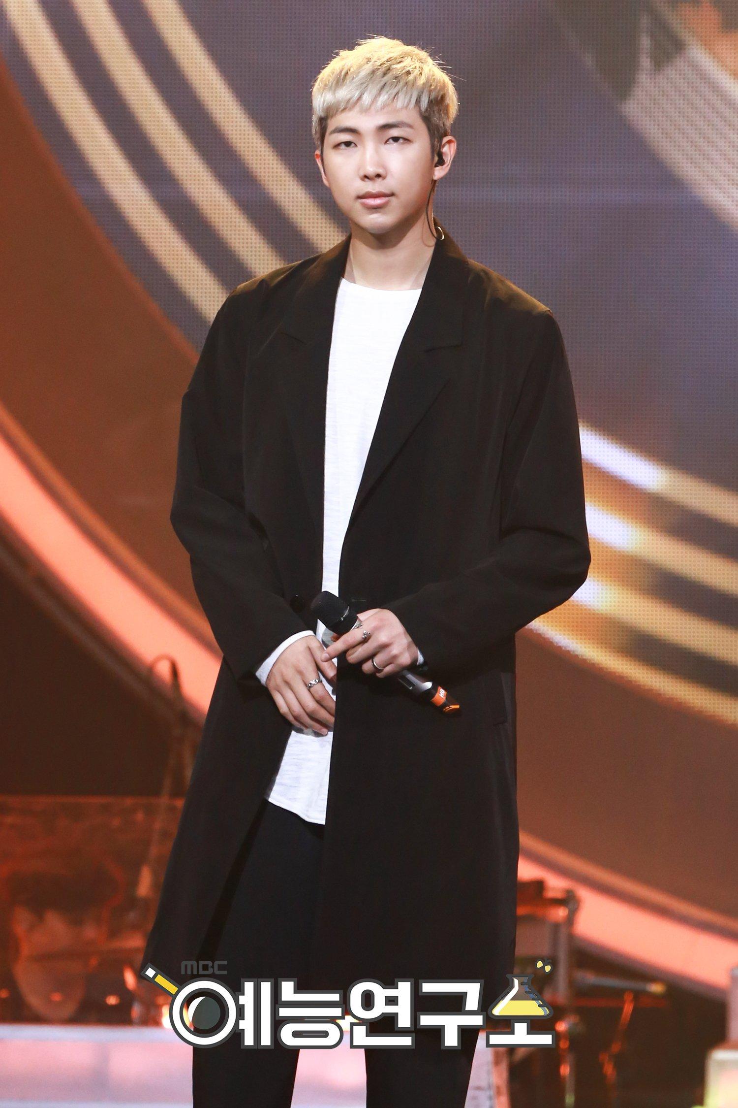Picture BTS Rap Monster On MBC Duet Song Festival 160630