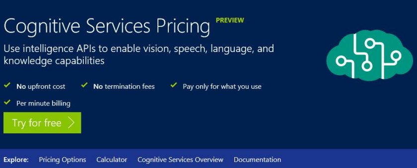 New #Bing APIs available for purchase: Search, Autosuggest, SpellCheck:  #CortanaIntelligence